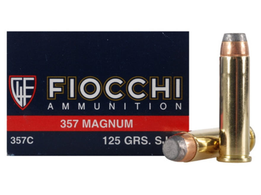 Fiocchi Shooting Dynamics Ammunition 357 Magnum 125 Grain Semi-Jacketed Soft Point Box ...