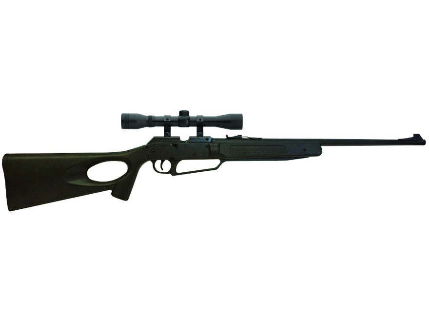 Winchester 77XS Pump Air Rifle 177 Caliber BB and Pellet Polymer Black Stock Blue Barre...