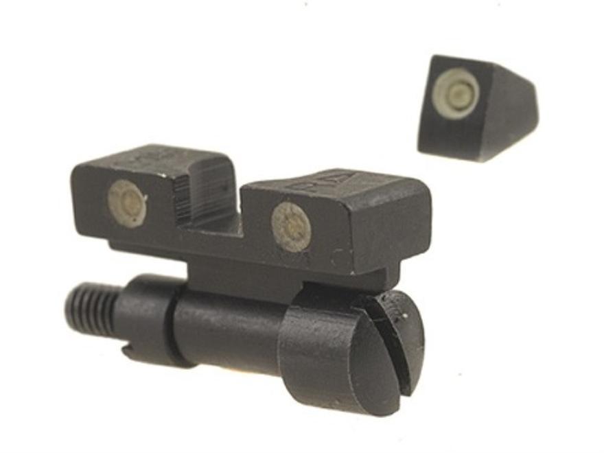 Meprolight Tru-Dot Adjustable Sight Set S&W K, L, N-Frame with Red Insert Front Sight S...