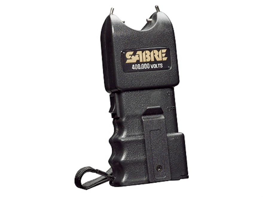 Sabre 400,000 Volt Stun Gun uses Two 9 Volt Batteries (Not Included) Polymer Black