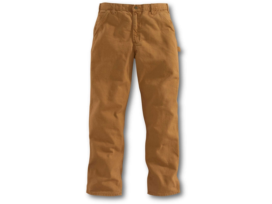 Carhartt Men's Washed Duck Work Dungaree Pants Cotton