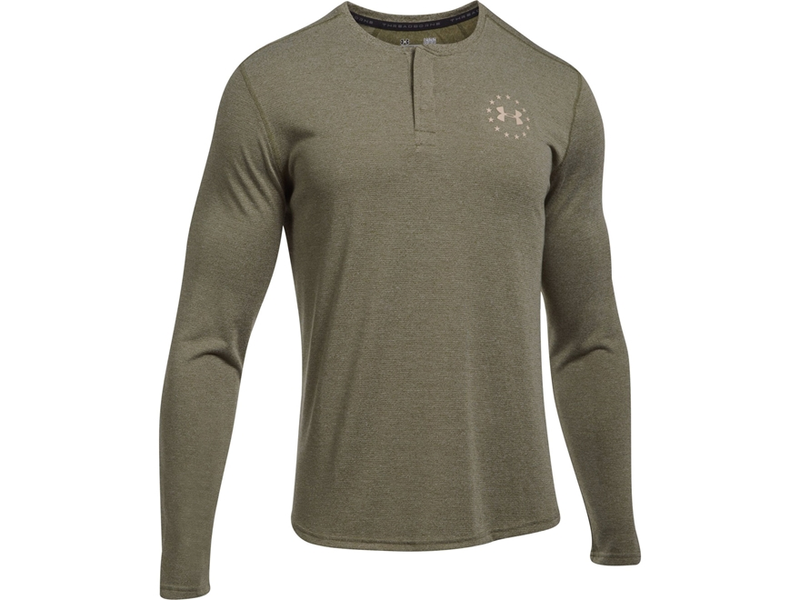 Under Armour Men's UA Freedom Threadborne Henley Shirt Long Sleeve Polyester