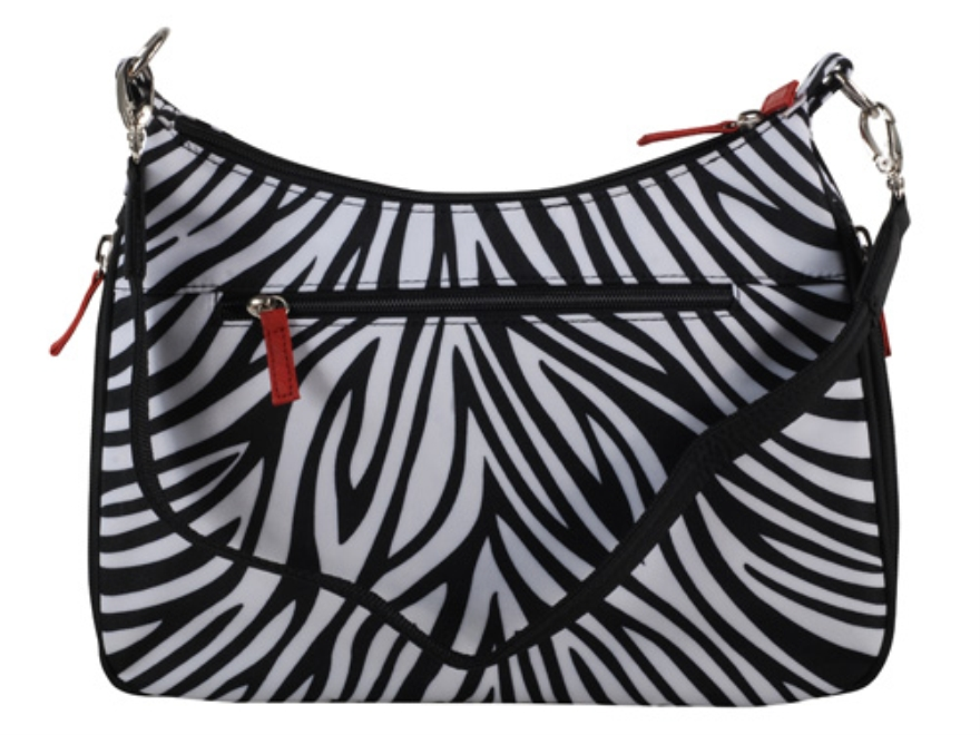 Gun Tote'N Mamas Basic Hobo Handbag Leather Zebra-Striped