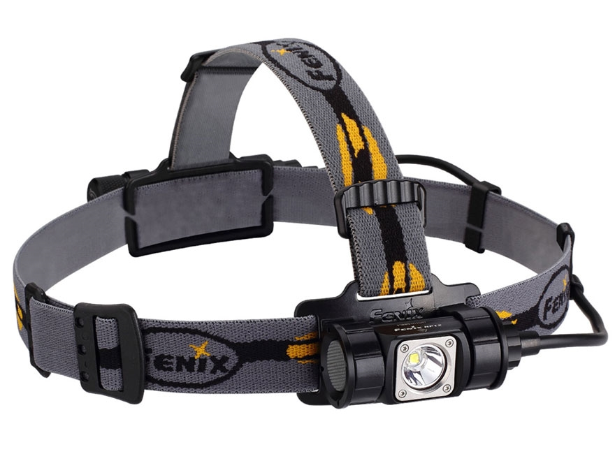 Fenix HP12 Headlamp LED Requires 18650 Rechargeable Li-ion or 2 CR123A Batteries Alumin...