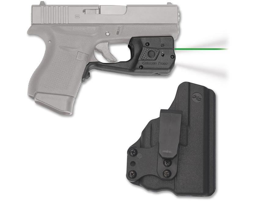 Crimson Trace Laserguard Pro Weapon Light White LED with Laser Sight Glock 42, 43 Black