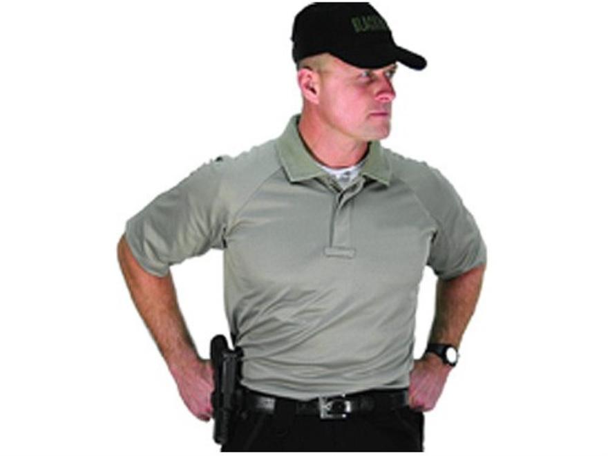 BLACKHAWK! Warrior Wear Performance Polo Shirt Short Sleeve Synthetic Blend Tan Large (...
