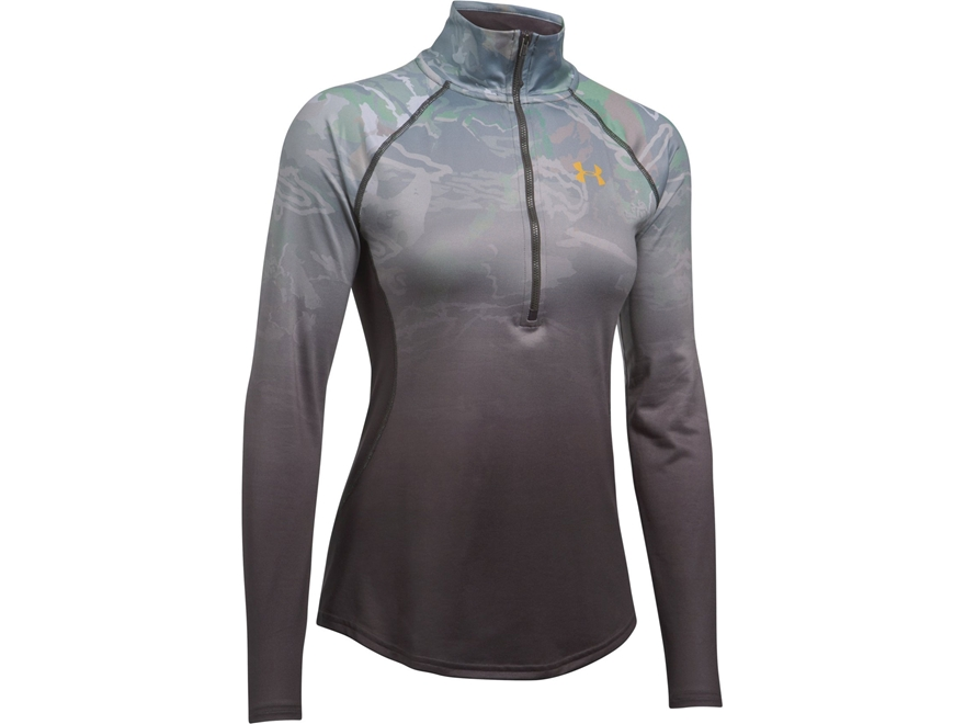 Under Armour Women's UA Camo Fade Tech 1/4 Zip Shirt Long Sleeve