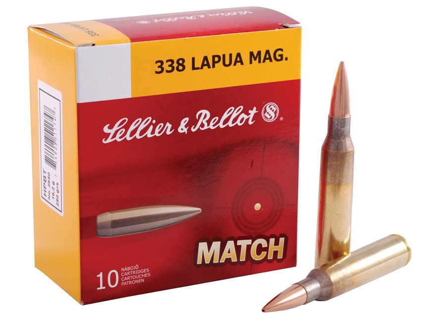 Sellier & Bellot Ammunition 338 Lapua Magnum 250 Grain Sierra MatchKing Hollow Point Bo...