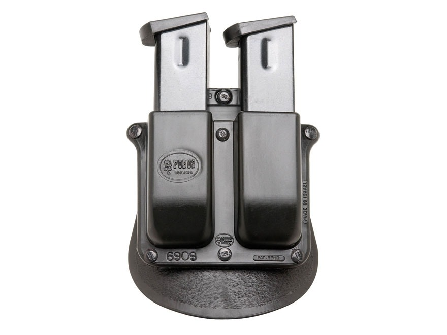 Fobus Paddle Double Magazine Pouch Double-Stack 9mm Luger, 40 S&W Polymer Black