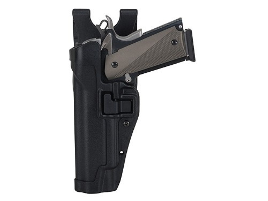 BLACKHAWK! Level 2 Serpa Auto Lock Duty Holster 1911 Government, Commander Polymer Black
