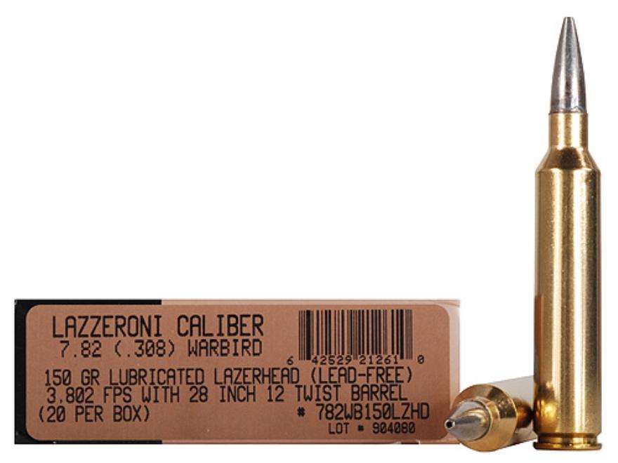 Lazzeroni Ammunition 7.82 Warbird 150 Grain LazerHead Copper X Bullet Boat Tail Box of 20