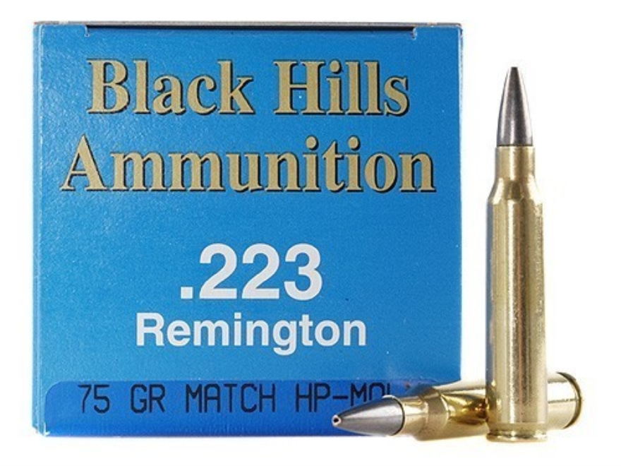 Black Hills Remanufactured Ammunition 223 Remington 75 Grain Match Hollow Point Box of 50