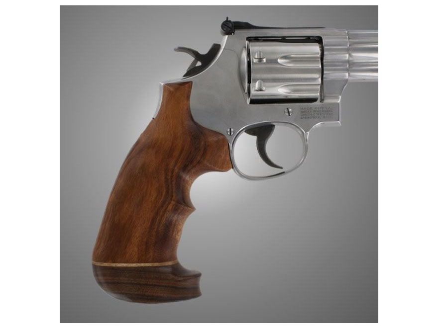 Hogue Fancy Hardwood Grips with Accent Stripe and Top Finger Groove Colt Diamondback Ov...