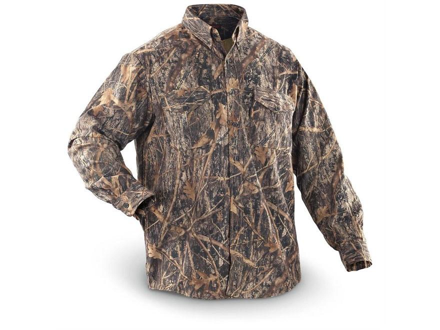 True Timber Men's Button-Up Long Sleeve Shirt