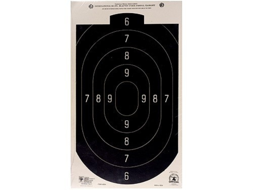 Hoppe's Rapid Fire Target 50' Pistol Silhouette Package of 20