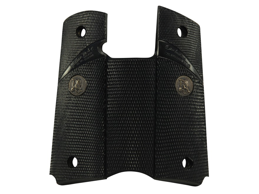 Pachmayr Signature Grips 1911 Government, Commander with Rubber Black