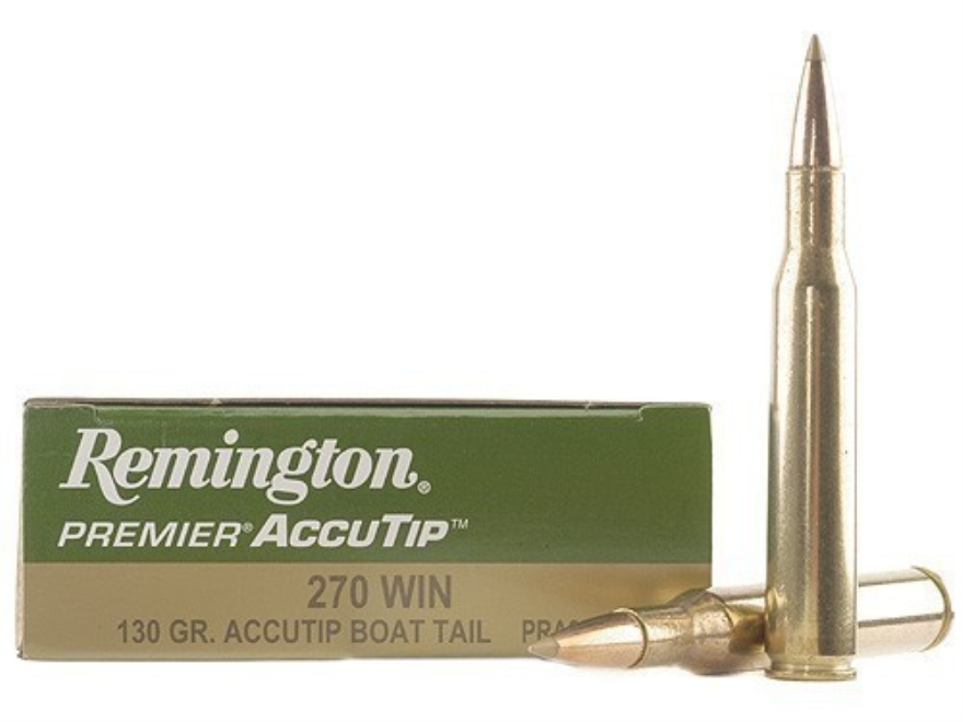 Remington Premier Ammunition 270 Winchester 130 Grain AccuTip Boat Tail Box of 20