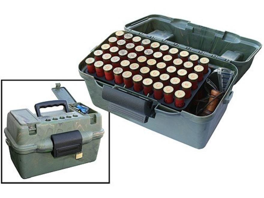 """MTM Deluxe Dual Gauge Flip-Top Shotshell Box with Handle 12 or 20 Gauge 2-3/4"""", 3"""" 100-..."""