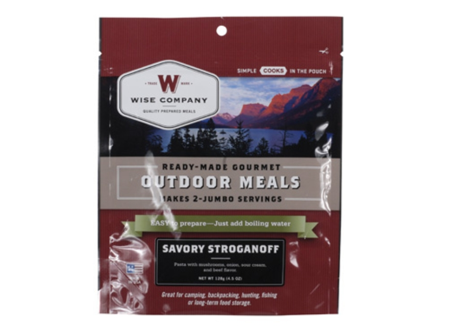 Wise Food Savory Stroganoff with Sour Cream and Mushrooms Freeze Dried Meal 6 oz