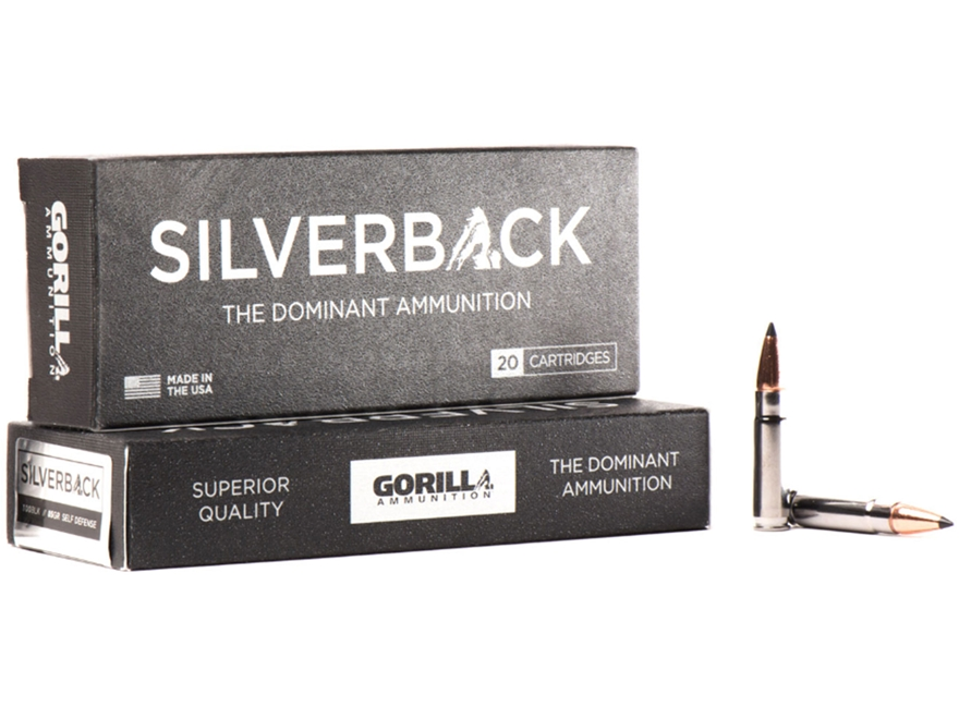 Gorilla Silverback Self Defense and Hunting Ammunition 300 AAC Blackout 85 Grain Hollow...
