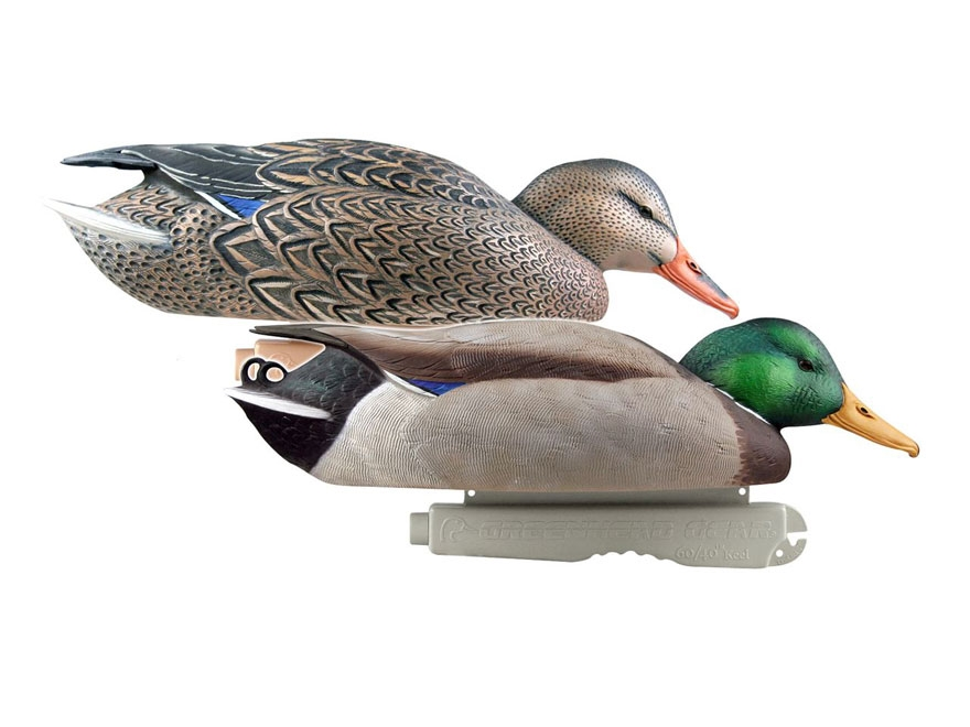 GHG Pro-Grade Mallard Surface Feeder Duck Decoy Pack of 2