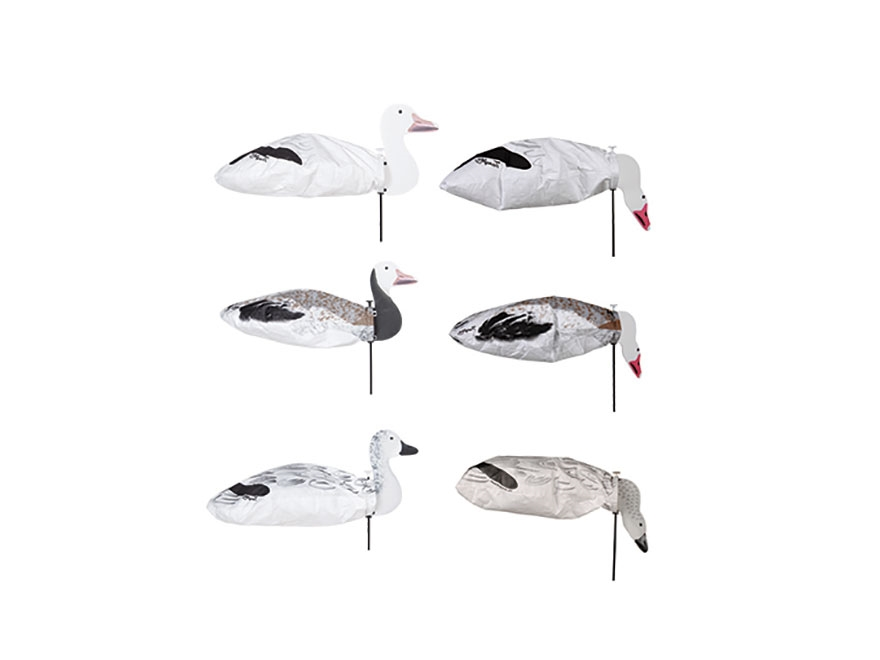 Tanglefree Slammer Socks with Heads Snow Goose Combo Pack Decoy Pack of 48