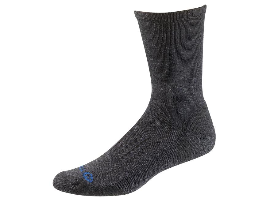 Merrell Men's Courant Solid Lightweight Hiking Crew Socks Merino Wool/Synthetic