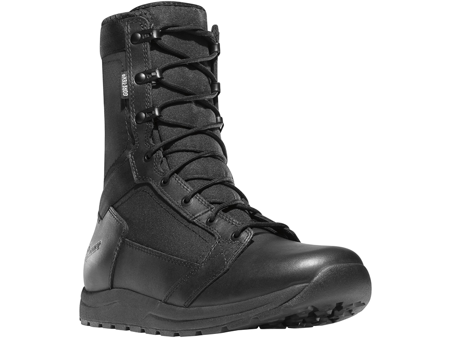 "Danner Tachyon GTX 8"" Waterproof Tactical Boots Leather/Nylon Black Men's"
