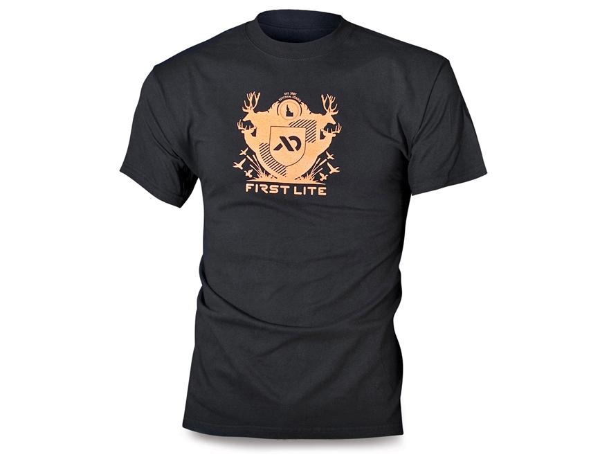 First Lite Men's Crest T-Shirt Short Sleeve Cotton Black
