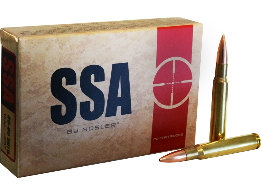 Silver State Armory Ammunition 30-06 Springfield 155 Grain Nosler Custom Competition Ho...