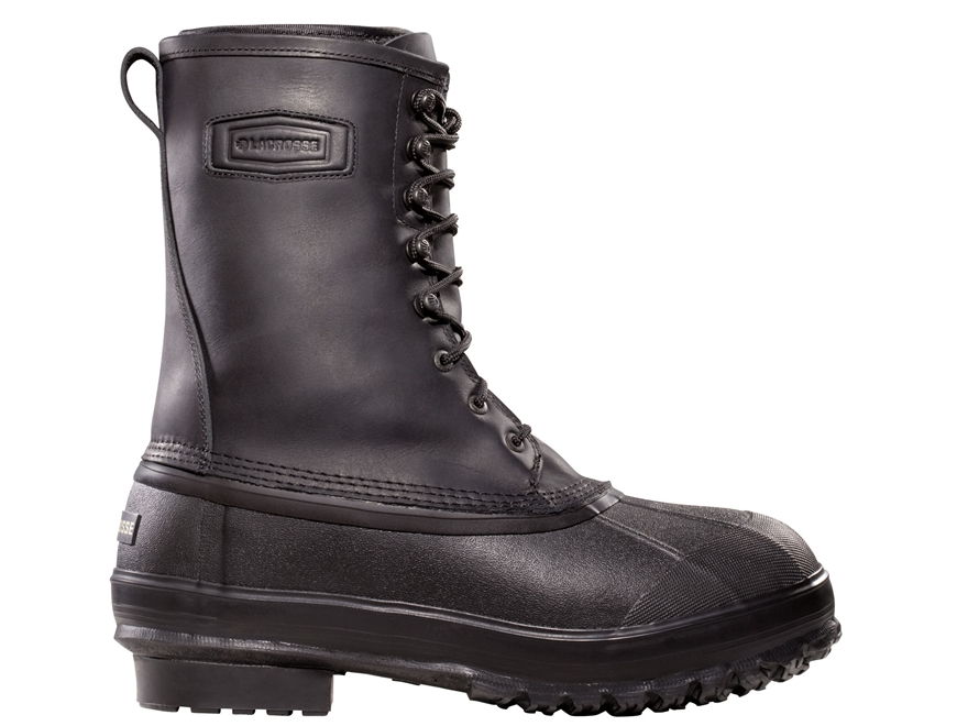 "LaCrosse Iceman 10"" Waterproof Insulated Work Boots Rubber Black Men's"