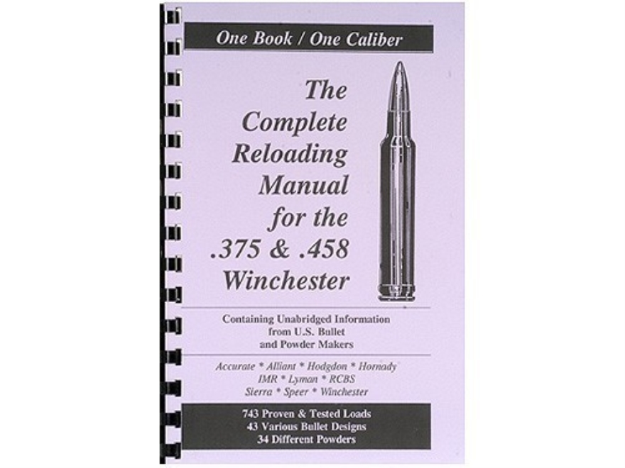"Loadbooks USA ""375 and 458 Winchester"" Reloading Manual"