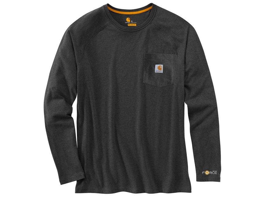 Carhartt Men's Force Delmont T-Shirt Long Sleeve Cotton/Polyester