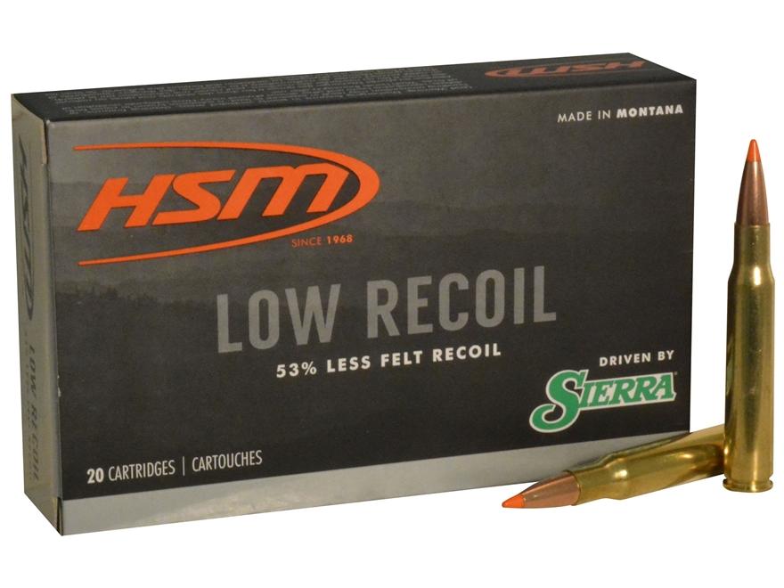 HSM Low Recoil Ammunition 30-06 Springfield 150 Grain Sierra Tipped Spitzer Boat Tail B...