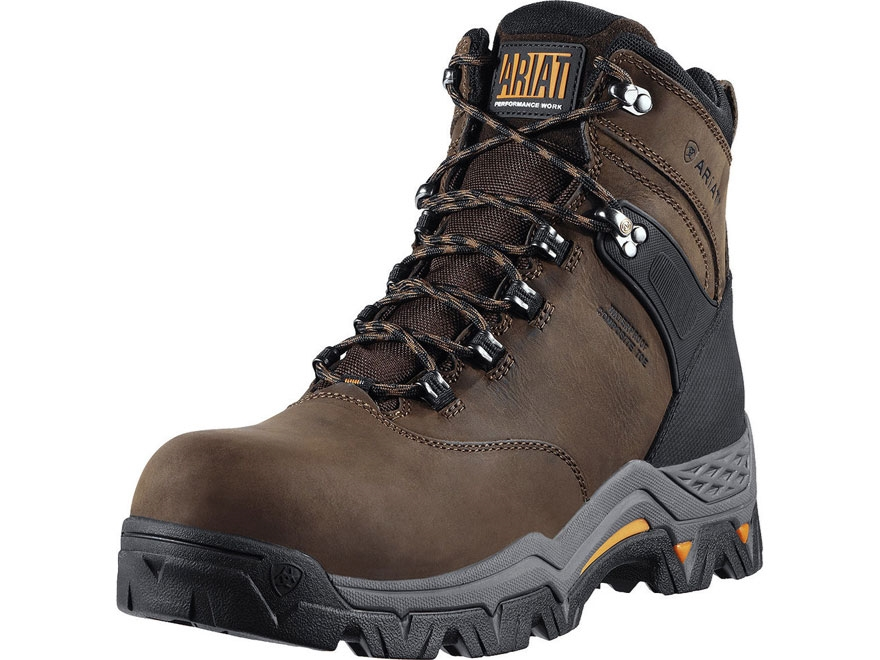"""Ariat Workhog Trek 6"""" H2O Waterproof Composite Safety Toe Work Boots Leather and Nylon ..."""