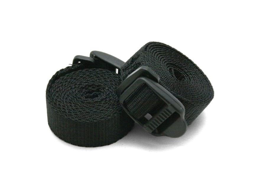 Coghlan's Sleeping Bag Straps Polypropylene Black Pack of 2