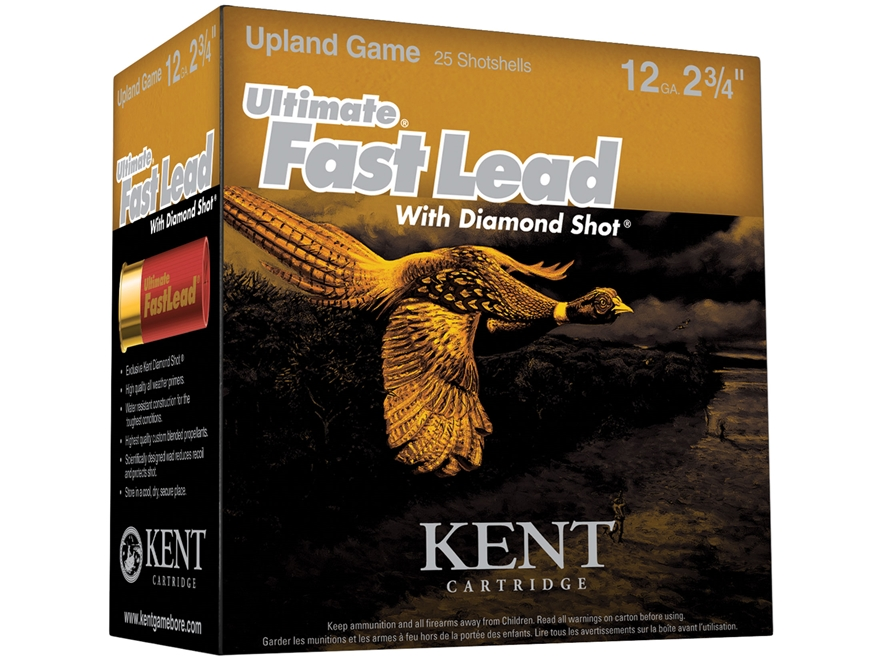 "Kent Cartridge Ultimate Fast Lead Diamond Shot Upland Ammunition 12 Gauge 2-3/4"" 1-1/2 ..."