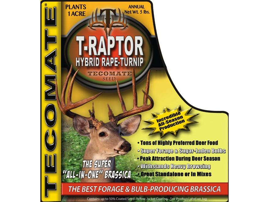 Tecomate T-Raptor Hybrid Rape-Turnip Annual Food Plot Seed 5 lb