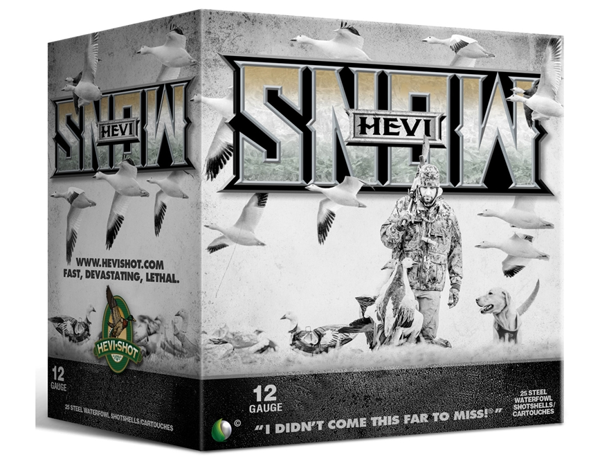 "Hevishot Hevi-Snow Waterfowl Ammunition 12 Gauge 3-1/2"" 1-3/8 oz BBB Non-Toxic Shot"