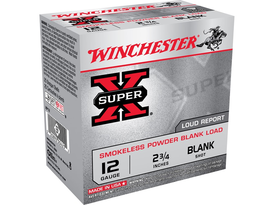 "Winchester Field Trial Popper Load Ammunition 12 Gauge 2-3/4"" Smokeless Blank"
