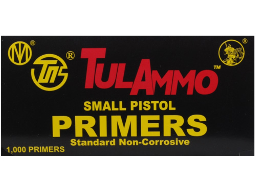 TulAmmo Small Pistol Primers Case of 5000 (5 Boxes of 1000)