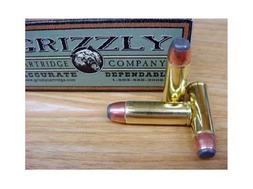 Grizzly Ammunition 475 Linebaugh 400 Grain Hawk Bonded Core Jacketed Flat Point Box of 20