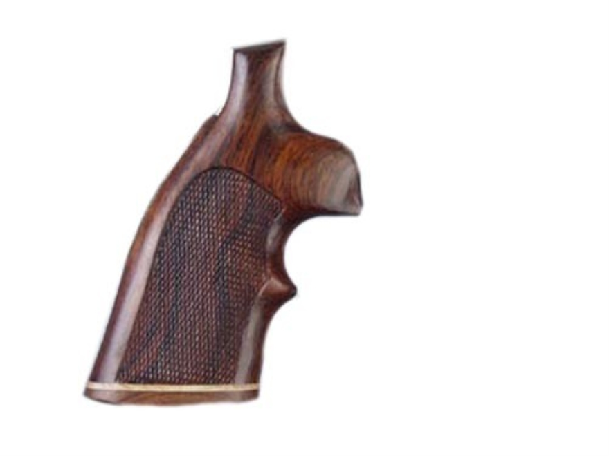Hogue Fancy Hardwood Grips with Accent Stripe and Top Finger Groove Taurus Medium and L...