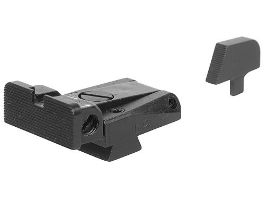 LPA SPR Target Sight Set 1911 Government with Narrow Tenon Front Sight Steel Blue
