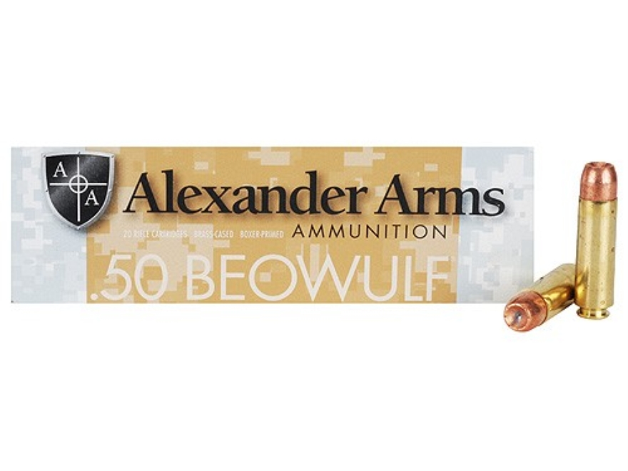 Alexander Arms Ammunition 50 Beowulf 300 Grain Speer Gold Dot Jacketed Hollow Point Box...