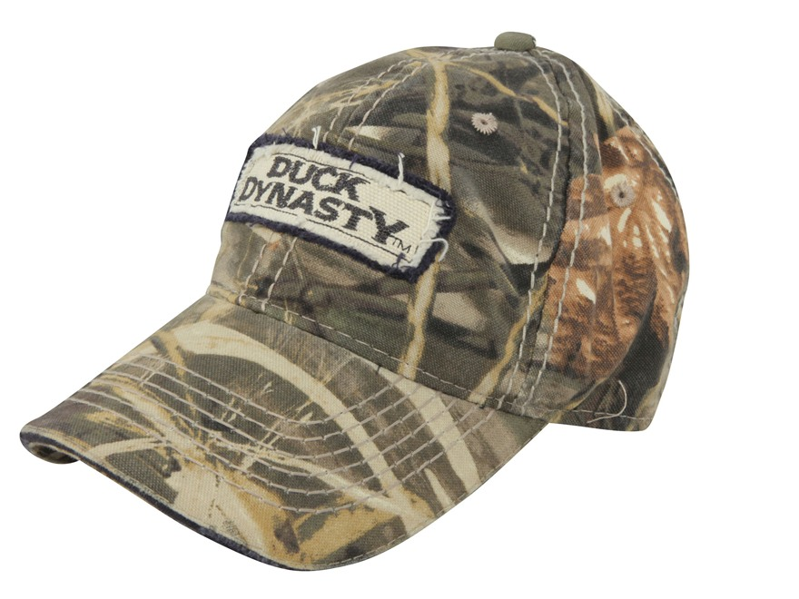 Duck Dynasty Logo Patch Cap Cotton Realtree Max-4 Camo
