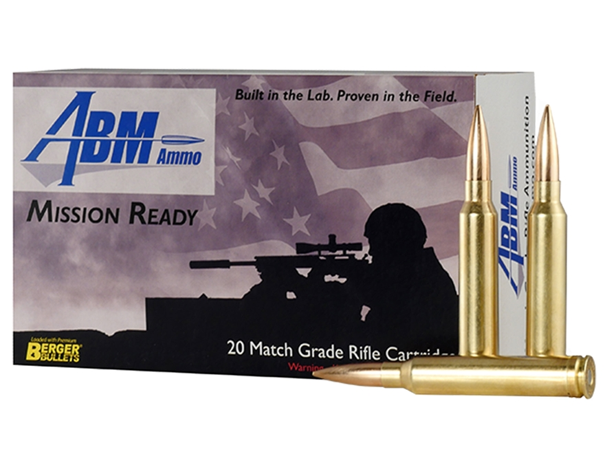 ABM Mission Ready-Tactical Ammunition 300 Winchester Magnum 185 Grain Berger Match Jugg...