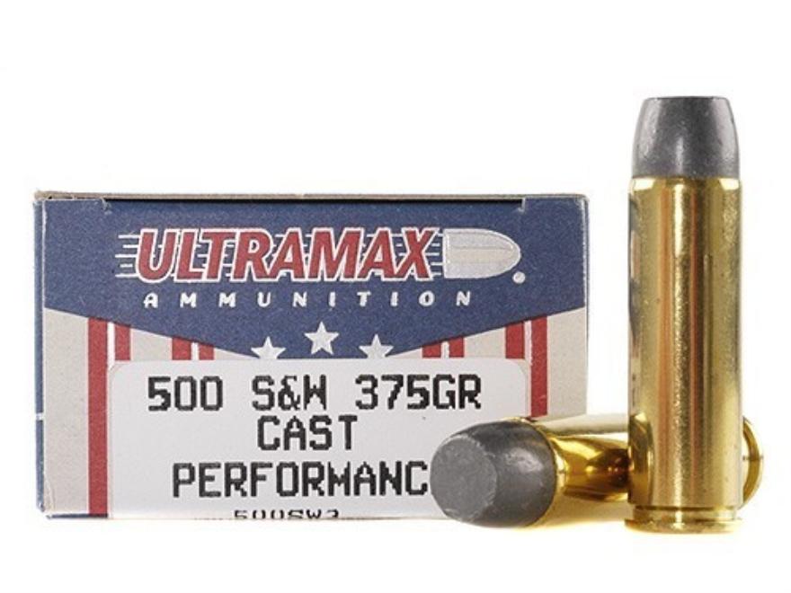 Ultramax Ammunition 500 S&W Magnum 375 Grain Lead Flat Nose Box of 20