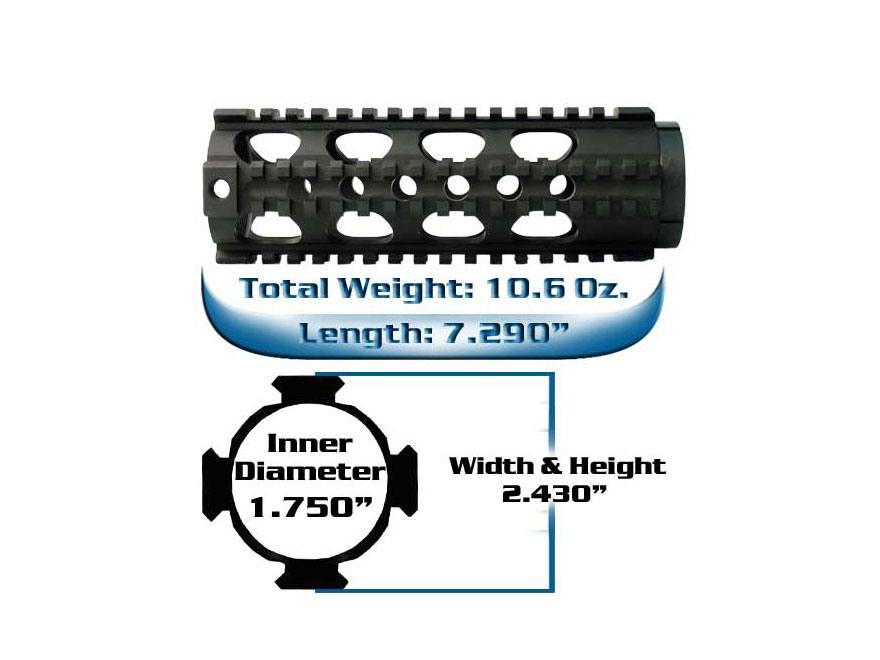 Yankee Hill Machine Free Float Tube Handguard Lightweight Quad Rail AR-15 Carbine Lengt...