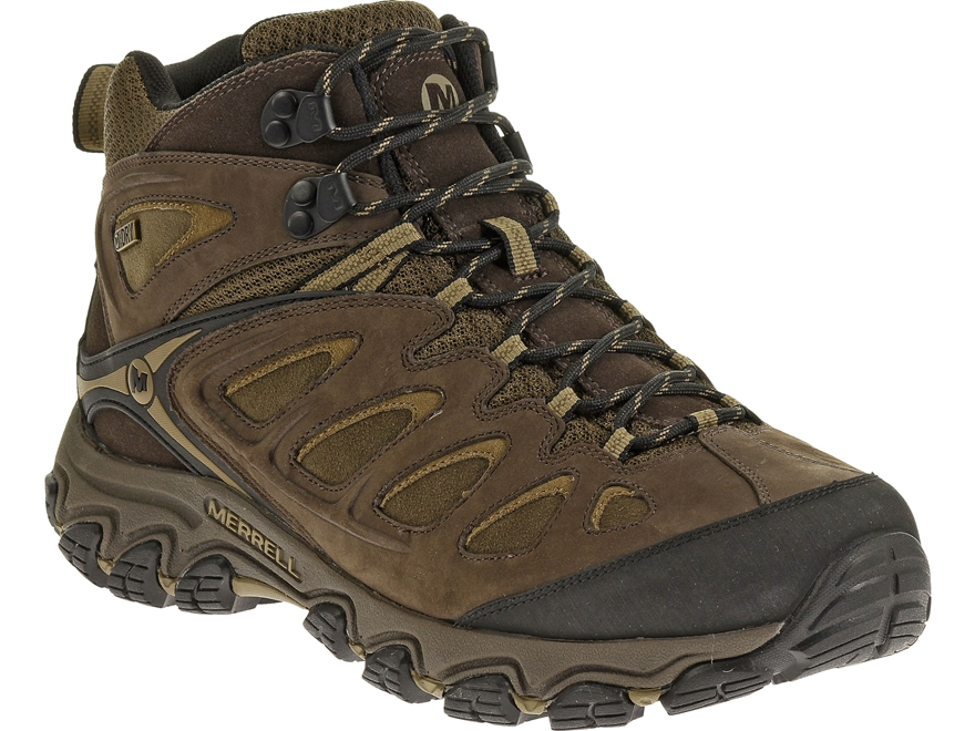 "Merrell Pulsate Mid 5"" Waterproof Hiking Boots Leather and Suede Men's"